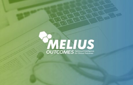 Melius Outcomes feature photo with a laptop, stethoscope, and medical form