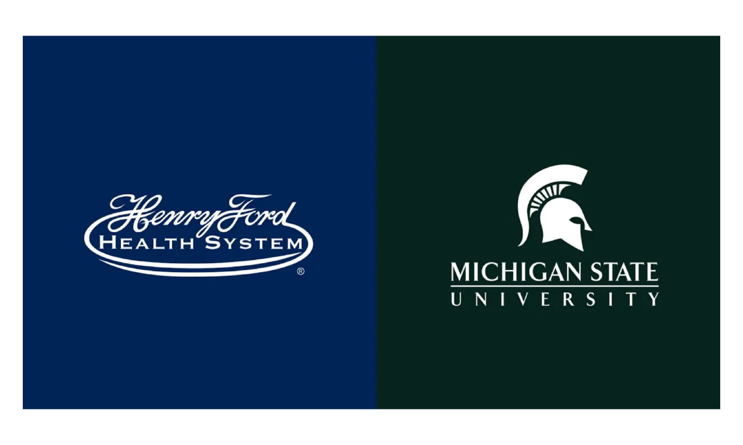 Henry Ford Health System logo and Michigan State University logo